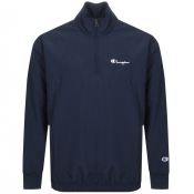 Product Image for Champion Half Zip Logo Jacket Navy